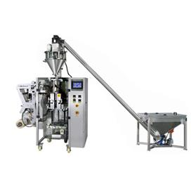 Three or four sides packing machine with auger filler and screw