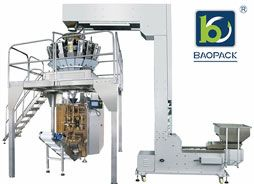 Whole set of high speed packing machine with 18 heads weigher to pack candy